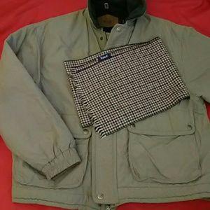 Woolrich Green Field Jacket Size XL & Scarf